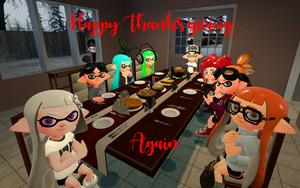 Happy Thanksgiving Again by DarkMario2