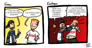 Fans vs Fanboys by theEyZmaster