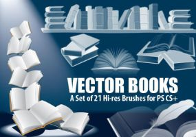 Clip Art Books-PS Brush Set by fiftyfivepixels