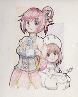 red tea and pudding by 8bitcyclone