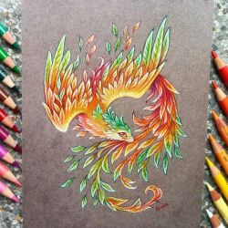 Phoenix of autumn by AlviaAlcedo