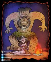 Frankentiki and his Bride by chrisraimoart