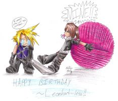 Cloud and Leon - Yarnball by IKilledSociety