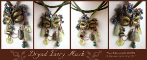 Dryad Faery Mask by phee-adornments