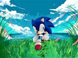 sonic by aoii91