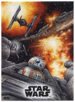 THE LAST JEDI Artist proof Sketch Card by Erik-Maell