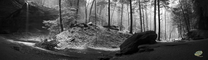 Snow at Ash Cave by TRBPhotographyLLC