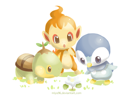Turtwig, Chimchar and Piplup(2)