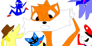 tails,sonic,pony,mario,lucario anime inflation by Paul1920