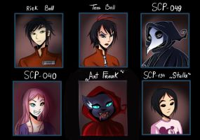 SCP : beyond the breach 1-4th arc characters #1 by Lappystel