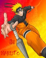 Naruto in Action by JPetrakis
