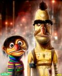 Bert and Ernie - My Brother's Keeper - by DanLuVisiArt