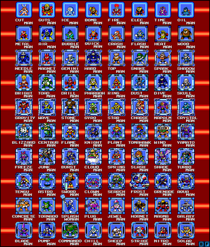 Robot Masters MM 1-10 Sprites by BlueFirez88