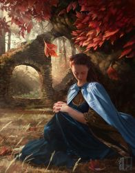 Sansa Stark in the Goodswood of the Red Keep by RobotDelEspacio