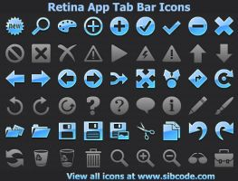 Retina App Tab Bar Icons by Iconoman