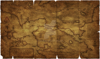 Old Runic Map by Kellerica