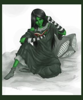 .Elphaba.Reading. by trisis
