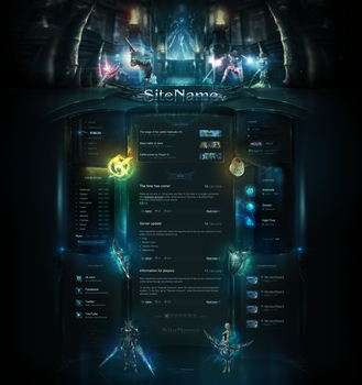 High Fantasy Web Template by DKartsStudio