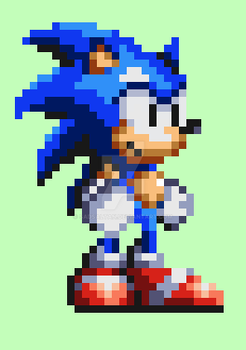 Sonic in Knuckles Chaotix style/Special for S32x by Sadsaltan