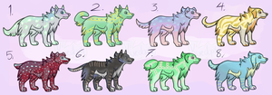 Colorful Canine Adopts [REDUCED] by Kuejena