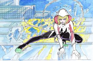 Spider Gwen Color by melcasipit