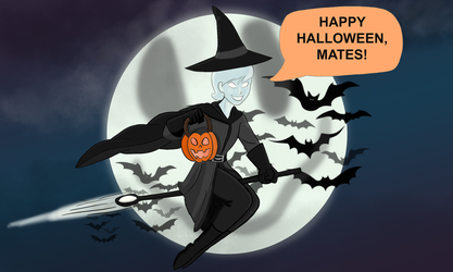 Peace on Halloween Night! by Troyodon