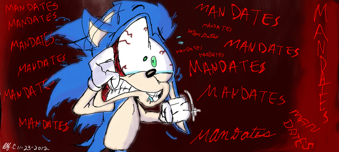 Sonic and....THE MAN DATE MADNESS!!!!! by spongefox