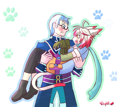 A Man and His Cat by Arylett-Charnoa