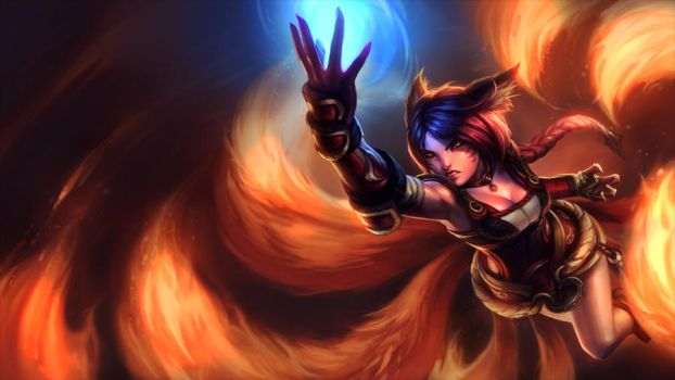 League of Legends - Firefox Ahri by TheMelonmuffin