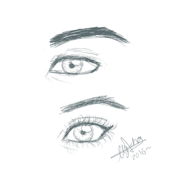 Eyes practice by xxAlyMetalGirlxx