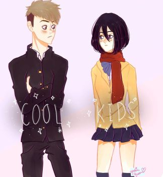 cool kids  jeanmikasa by qookiequeen