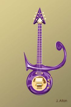 Prince's Symbol Guitar by Artzine20