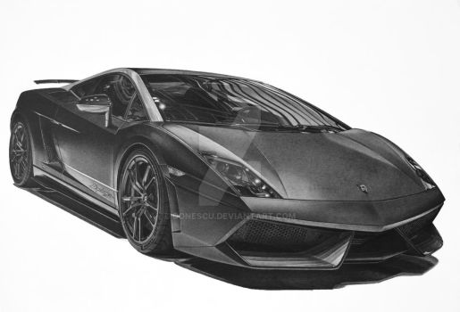 Lamborghini Superlegerra Drawing by donescu