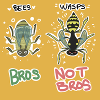 Bees are bros by Zaphaire