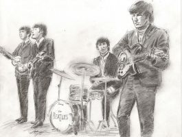 fab Beatles performing by mozer1a0x