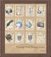 Vintage Stamp Dock Icons by Pietzi