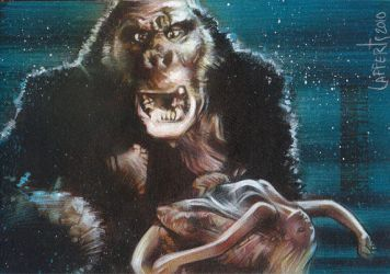 King Kong - Double Sketch Card by JeffLafferty