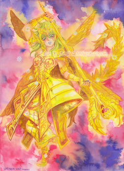 Commission - Ophiuchus Gold Cloth Shaina by LyrykenLied