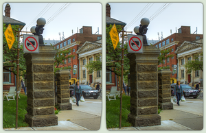 Little Italy of Toronto 3-D / CrossView / Stereo by zour
