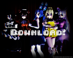 Tda FNaF2 Models Pack Female Ver. DL! by Smol-Hooman