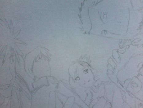 Roy Mustang and his Staff by Roy-0taku