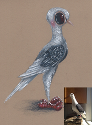 Wyatt the Pigeon by Ducks-with-Crayons