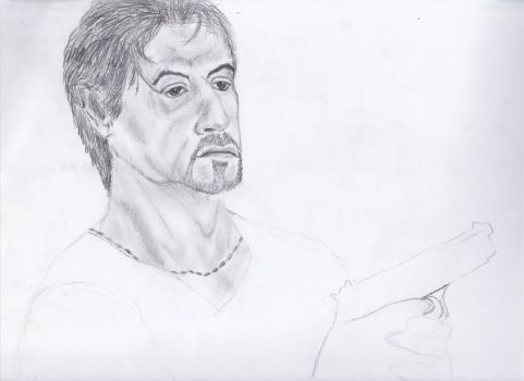 Sylvester Stallone by BHDrawings