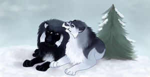 Sister and Brother by magikwolf