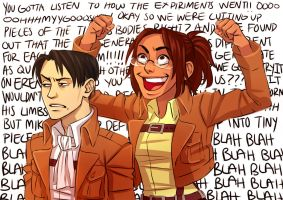 Levi and hanji i guess by Jazzie560