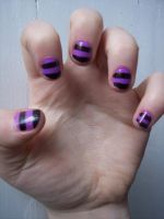 Chesire nails :D by CupCakeOwO
