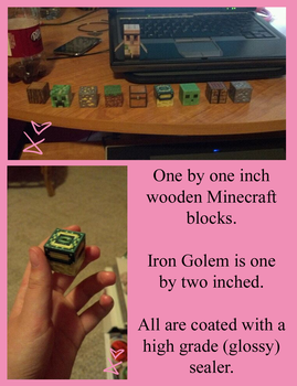 Minecraft- Wooden blocks by KittyBirdyCake
