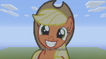 MLP Applejack Minecraft Pixel Art by FelixGuaman