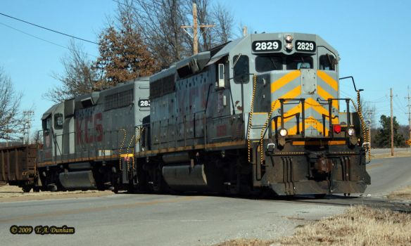 KCS 2829 at Gentry by labrat-78