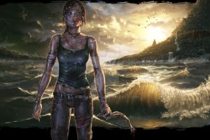 Lara Croft by warballoon